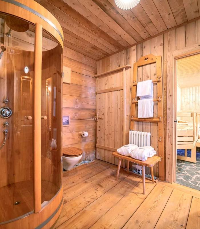 Mountain chalet bathroom 1